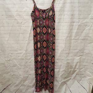 Forever 21 geometrical print maxi dress